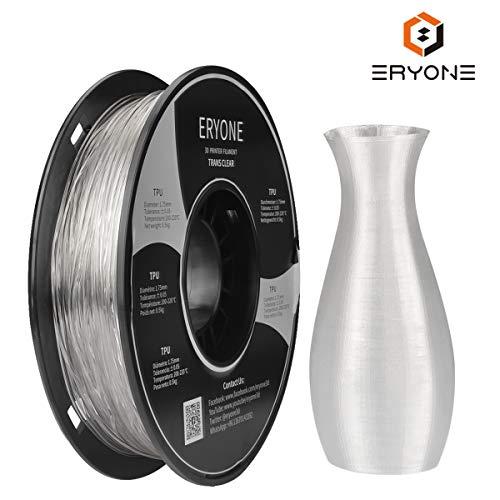 Filament TPU 1.75mm, Eryone TPU Filament 1.75mm, 3D Printing Filament TPU for 3D Printer, 0.5kg 1...
