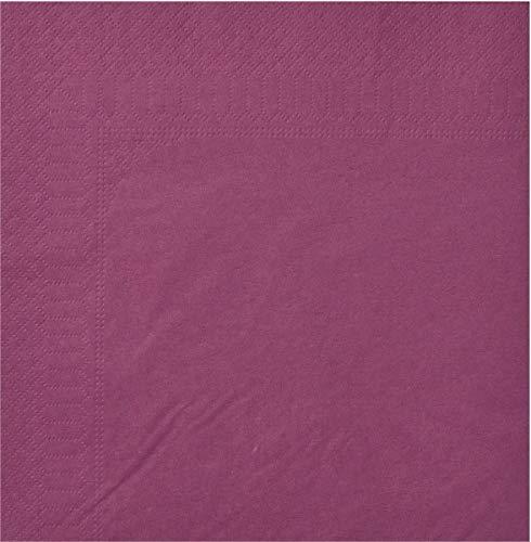 Toalla, 2 Hojas, 20 x 20 cm, Berenjena, 18 Paquetes de 100