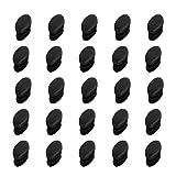 YouU 25 Pezzi Inserto Tubo per Sedia Ovale in Plastica per Ufficio, Plastica Forma Ovale estremità Tazza Tubo Inserto, Nero (28 x 14mm)
