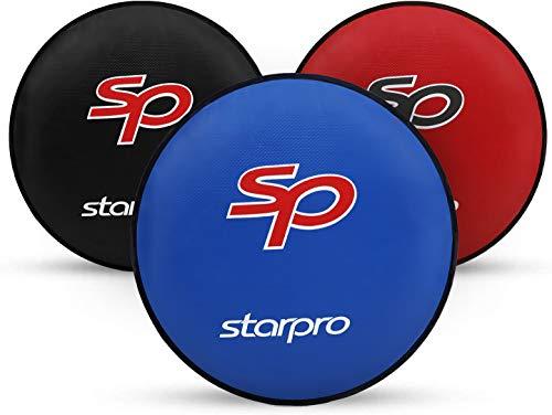Starpro Esencial Escudo de punzón Redondo |Cuero de PU| Rojo, Negro Azul...