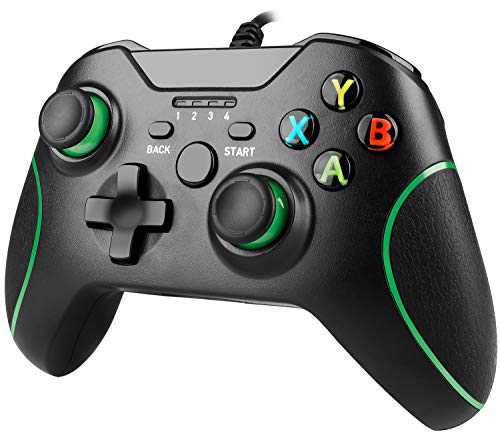 Xbox One Wired Controller, YAEYE Wired Xbox One Game Controller USB Gamepad Joypad Controller with Dual-Vibration for Xbox One PC Windows 7/8/10 (Black)