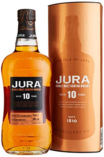 Jura 10 Years Old Single Malt Scotch Whisky mit Geschenkverpackung (1 x 0.7 l)