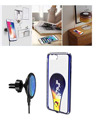 HJJH Chargeur De Voiture sans Fil, Support Fil Magnétique, Shell Téléphone Portable Recharge Trois en Un, pour Apple 5.5 Pouces Mobile