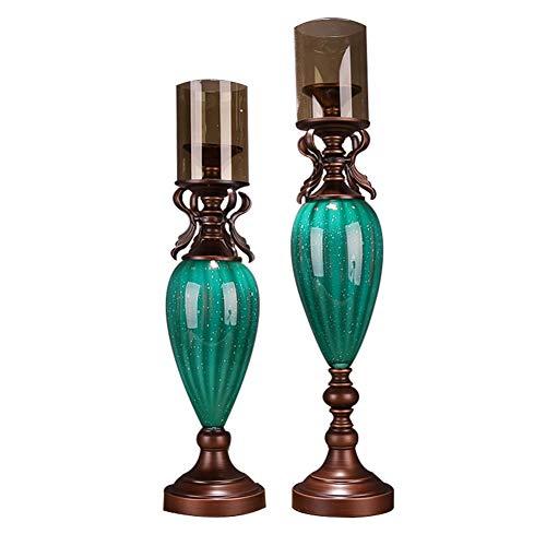 Bougeoirs Ensemble De 2 Chandeliers en Céramique, pour Table Basse Décorative, Centres De Table pour Salon/Salle À Manger