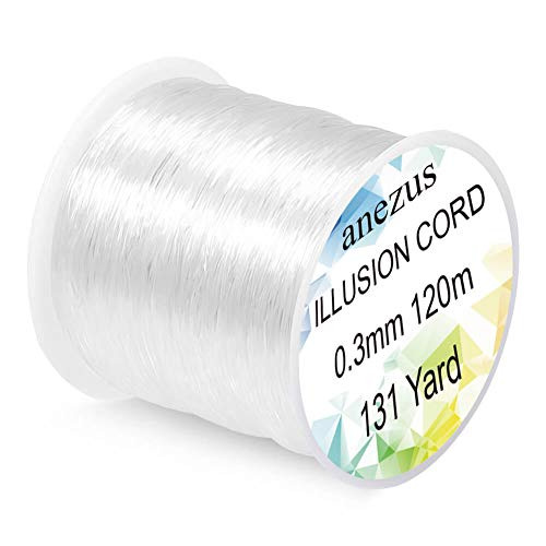 Anezus Fishing Line Nylon String Cord Clear Fluorocarbon Strong Monofilament Fishing Wire