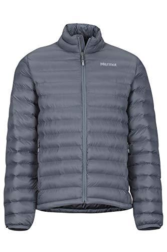 Marmot Solus Featherless Jacket Chaqueta de Senderismo Aislante Ligera, Chaqueta de Abrigo para Exteriores, Anorak Resistente al Agua, Resistente al Viento, Hombre, Steel Onyx, M