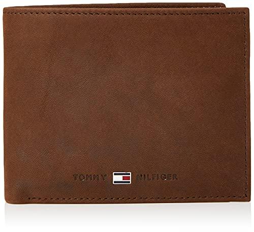 Tommy Hilfiger Johnson Trifold, Porta Carte di Credito Uomo, Marrone, 75 cm