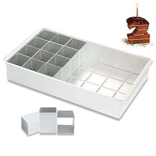 Aluminium Backform,Zahlenbackform,Zahlen Backform,Backform Zahlen Groß für Jahrestag, Hochzeit, Geburtstag, Kuchen, Ausstechformen
