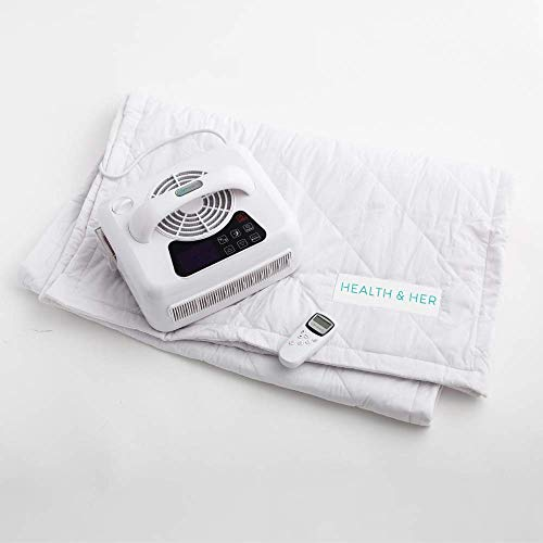 HEALTH & HER COOLING AND HEATING MATTRESS TOPPER, SINGLE - hydro-powered cooling and heating system that operates from 18-38⁰C at the touch of a button