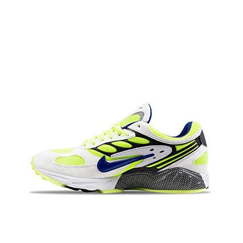 Nike Air Ghost Racer, - White Hyper Blue Neon Yellow - Größe: 42.5 EU