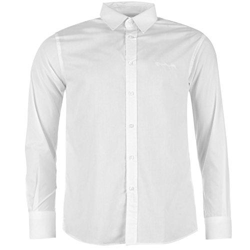 Pierre Cardin - Camicia a maniche lunghe da uomo bianco XL