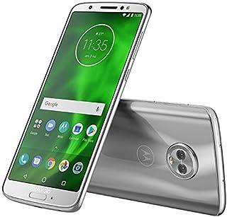"Motorola Moto G6 (32GB) XT1925-2 - 5.7"" Full HD Display, Dual SIM, Dual Camera's, 4G LTE GSM Factory Unlocked International Model - No Warranty (Silver)"
