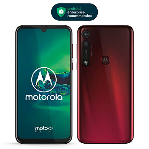 moto g8 plus Dual-SIM Smartphone (6,3 Zoll-Max vision-Display, 48-MP-Quad-Pixel-Triple-Kamera, 64 GB/4 GB, Android 9.0) Rot