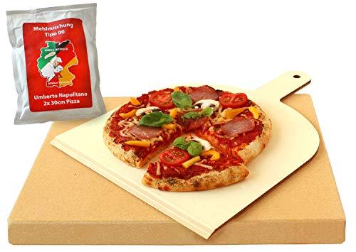 Vesuvo Pack de Piedra para Horno y Barbacoa V38303 / para cocinar Pizzas y...