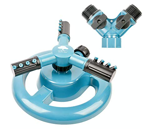 MyGarden Sprinkler Lawn Sprinkler 360 Degree Rotating Large Area Coverage Irrigation System for Lawns and Garden Automatic Water Sprinklers
