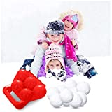 Fine 5 Snowballs Clamp Clip,Snowball Maker Sand Mold Tool Kids Toy Snow Scoop Maker Outdoor Sports for Kids and Adults, (Red)