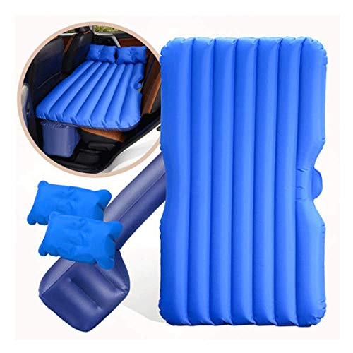 ERHANG Auto SUV Luftmatratze Bewegliche Dickere PVC-Oxford-GewebeLuftbett Auto Matratze Für Reisen Camping Outdoor Maximale Tragfähigkeit 350kg,Blue(A)