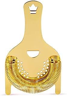 Koriko 2-Prong Hawthorne Strainer - Gold-Plated