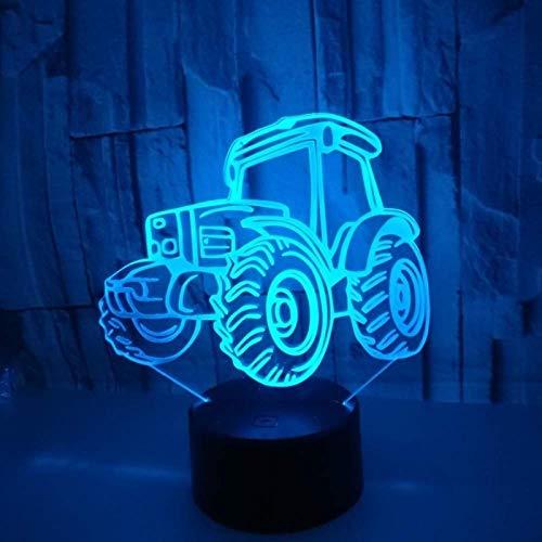 Nachtlampje, geïllustreerde illusie lamp-nachtlampje USB-tafellamp kleurrijke noten-verrekijker slaapkamer baby-kind cadeau-engel