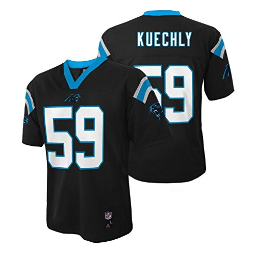 Luke Kuechly Carolina Panthers Black NFL Kids 2016-17 Season Mid-Tier Jersey (Kids, Small 4)