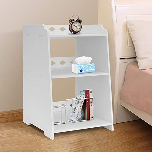 Youyijia Bedside Table 48 * 30 * 25cm White Bed Side Table Cabinet Side End Table Nightstand Storage Organizer