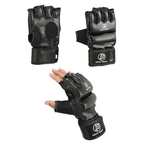 Krav Maga negro agarre y llamativos guantes Freestyle - grande