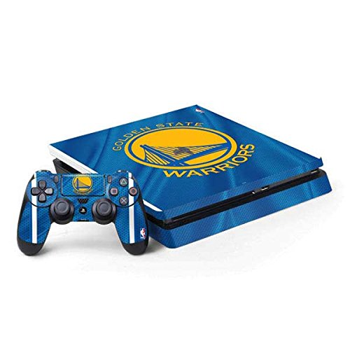 Skinit Decal Gaming Skin for PS4 Slim Bundle - Officially Licensed NBA Golden State Warriors Jersey Design