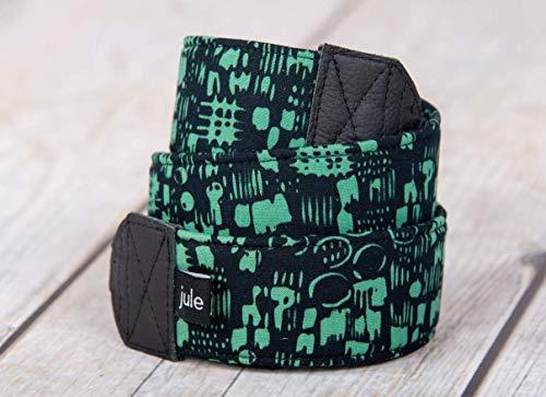 Kameraband - Handmade in Germany - Kameragurt Tragegurt Kamera DSLR Spiegelreflex schwarz grün