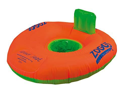 Zoggs Trainer Seat Inflable Flotador Barco de Natación Bebe, Bebés Unisex, Naranja/Verde, 12-18 Meses