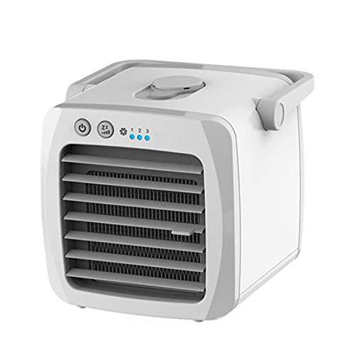 Condizionatore d'Aria Portatile, Mini Dispositivo di Raffreddamento dell'Aria evaporativo, radiatore d'Aria USB calmo con (2-3) velocità, per Piccola Stanza/Ufficio