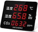 HATUSOKU 業務用 大画面 CO2センサー 二酸化炭素濃度計 CO2測定器 NDIR方式 アラーム機能 日本企業 (日本語表記タイプ)