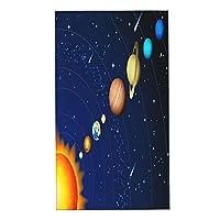 EILANNAフェイスタオル、惑星太陽系土星銀河木星マーキュリーメテオ冥王星、ファイバー タオル 吸水速乾 耐久性 ふわふわ 肌触り抜群 四季通用