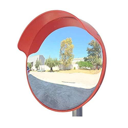 Byx Convexer spiegel Oppervlaktebuitendraaispiegel grote ronde oranje verkeersveiligheid bescherming kruising gebogen spiegel voor verkeersveiligheid en bedrijfsveiligheid