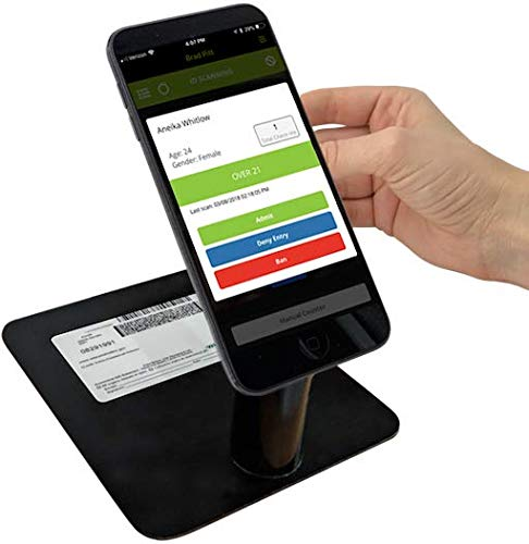 Vemos ID Scanner Stand for Bars, Nightclubs & Events. Age Verification of Drivers Licenses, Passports & Documents. Portable and Works with Any iOS, Android Kindle Device