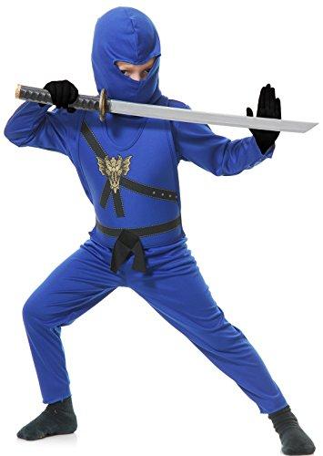 Child Blue Ninja Master Fancy dress costume Large (10-12)