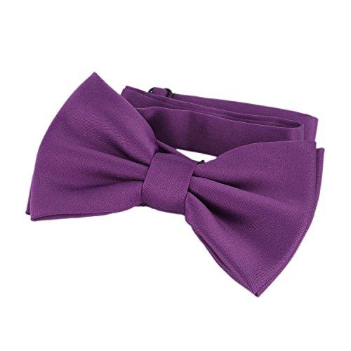 DonDon pajarita corbatín lila ya atado ajustable