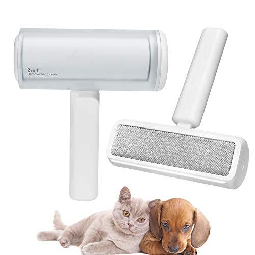 CATISM 2 en 1 - Rodillo quitapelusas para pelo de mascotas, autolimpiable, cepillo quitapelusas, rodillo para pelusa para mascotas, pelo de mascotas, muebles, pelo de animales