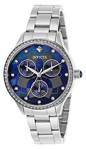 Invicta Women's Wildflower Quartz Watch with Stainless Steel Strap, Silver, 22 (Model: 29091)