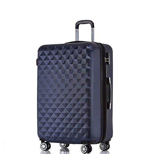 Rotelle per 2066Custodia rigida trolley valigia da viaggio bagaglio valigia da viaggio M, L, XL di set in 12colori, Dunkelblau, XL