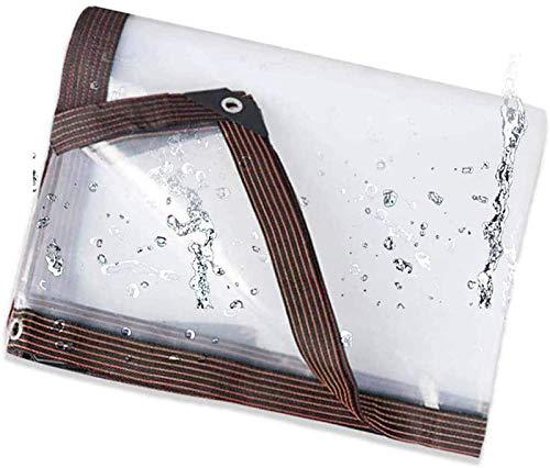Lona transparente, Lona transparente resistente impermeable Plástico transparente Plegable Aislamiento antienvejecimiento PE con ojales para plantas Invernadero Techo de conejera,Transparent_3x3 Feet