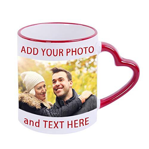 Custom Photo Coffee Mugs, 13 oz Coffee Mugs with Picture, Text, Name,...