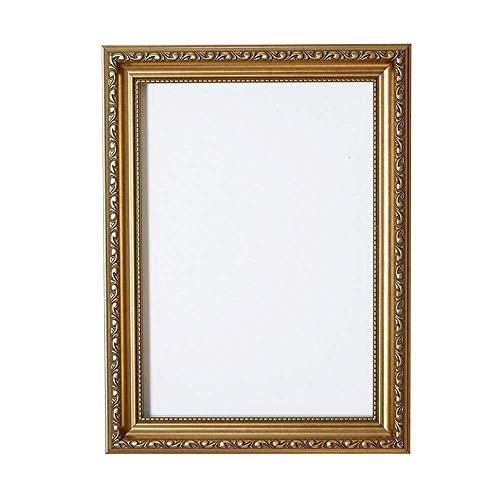 Gold - 50 x 70 cm - Verzierter Bilderrahmen im Shabby Chic/Foto/Posterrahmen - Mit Rückwand aus MDF - Mit bruchsicherem Plexiglas aus Styrol für hohe Klarheit