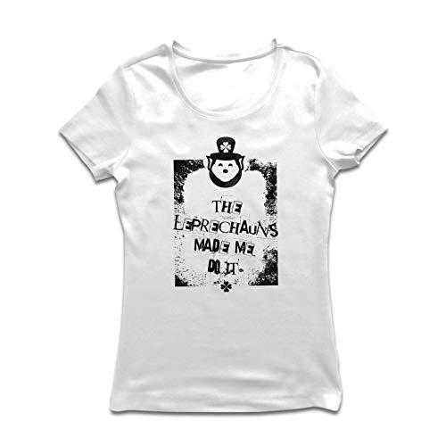 lepni.me Vrouwen T-shirt De Leprechauns maakte me doen het, St. Paddy's Day Citaten