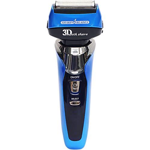 4枚刃 電気シェーバー 充電式メンズシェーバー 3Dヘッド 完全防水 IPX-7設計 髭剃り 男性用 お風呂剃り 100V-240V