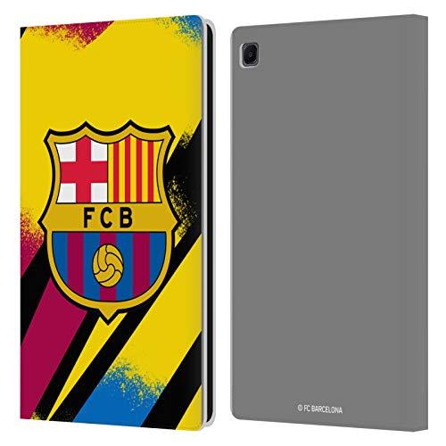 Head Case Designs Licenciado Oficialmente FC Barcelona Portero Tercera equipación 2019/20 Crest Kit Carcasa de Cuero Tipo Libro Compatible con Samsung Galaxy Tab S6 Lite