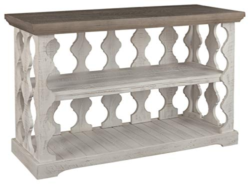 Signature Design by Ashley - Havalance Farmhouse Console Table, Whitewash/Brown Wood