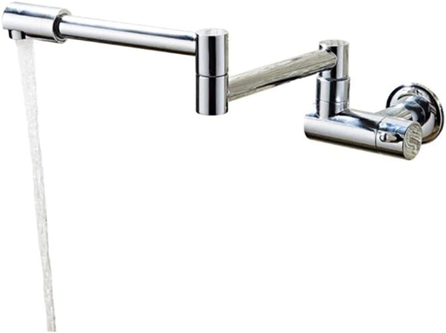 Taps Mixer?Swivel?Faucet Sink Foldable Wall-Type redating Telescopic Single-Cold Balcony Washbasin Mop Pool Faucet