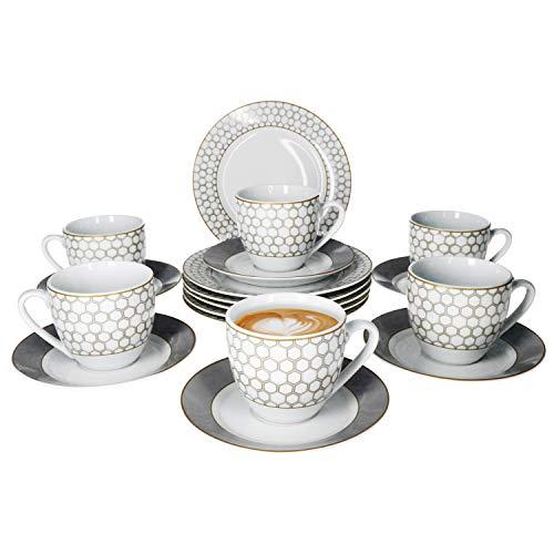 """Kaffee-Set """"Honey"""" 18tlg."""