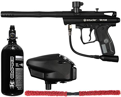 Action Village Kingman Spyder Victor Core Paintball Gun Package Kit (Diamond Black)