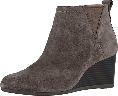 Vionic Women's Parkwood Paloma Wedge Ankle Boots - Ladies Booties with Concealed Orthotic Arch Support Greige 9 M US
